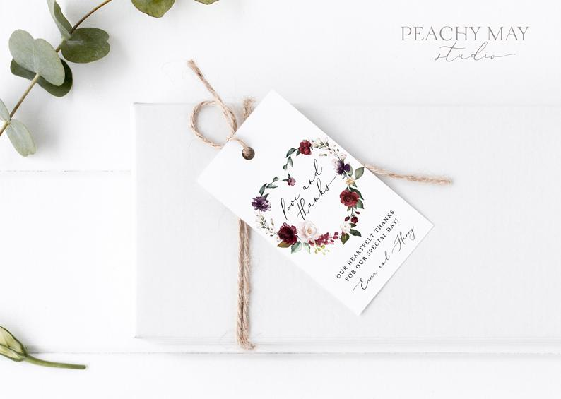Floral Thank You Tag Template 037