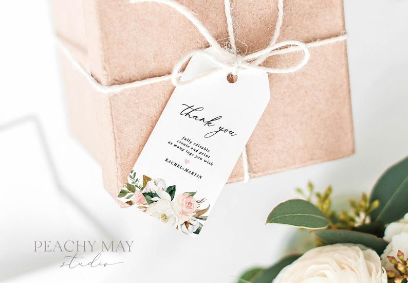 Magnolia Thank You Tag Template 0039