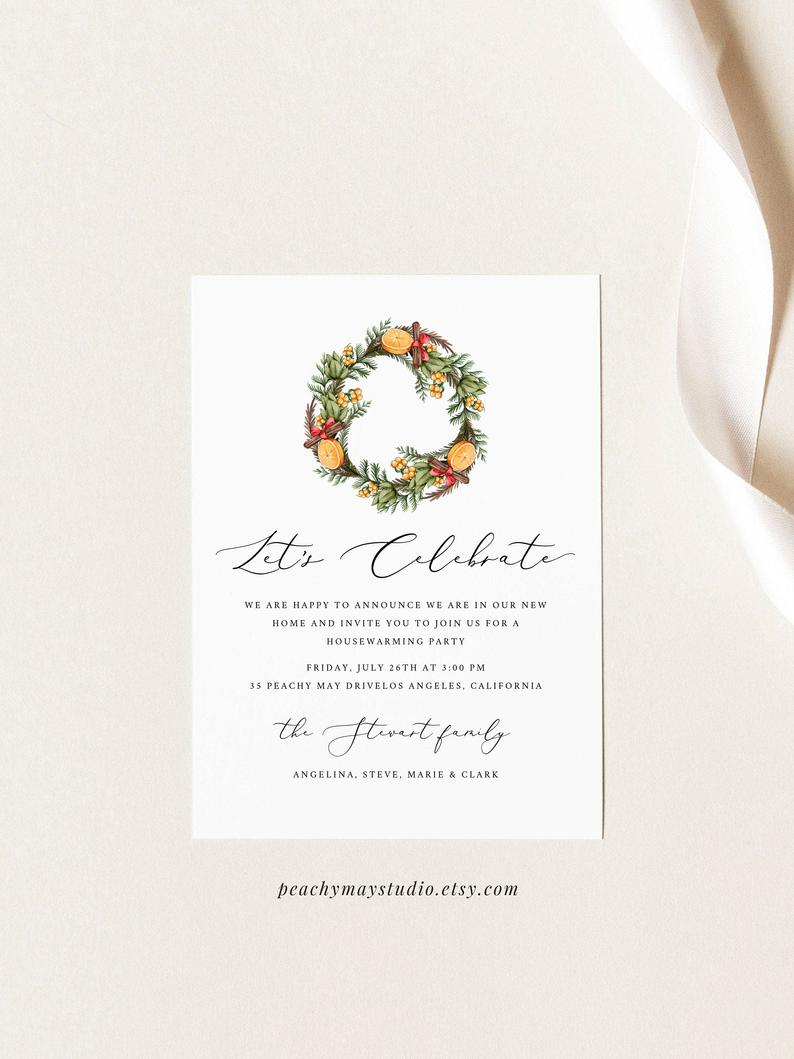 Christmas Housewarming Party Invitation Template 5