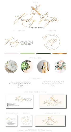 Kinsley Payton Kit , Logo Design, - peachcreme.com