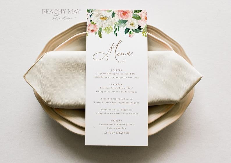 Wedding Menu Template 013
