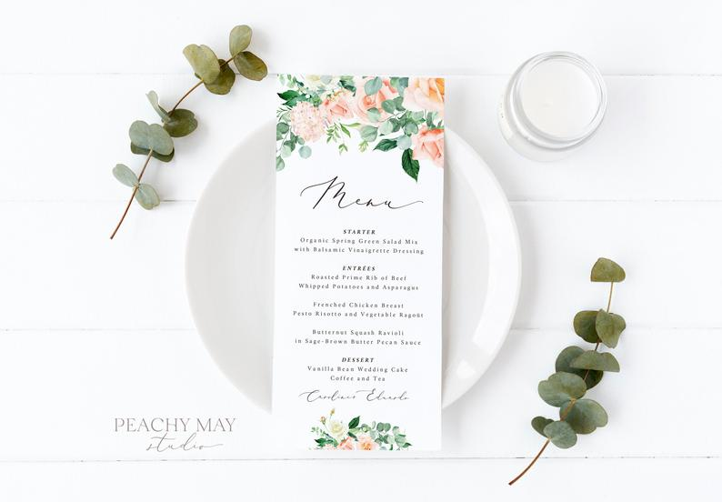 Wedding Menu Template 025