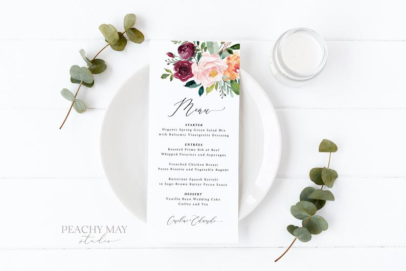 Wedding Menu Template 028