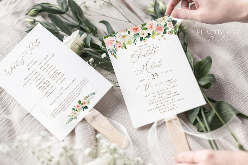 Wedding Program Instant Download Template 013
