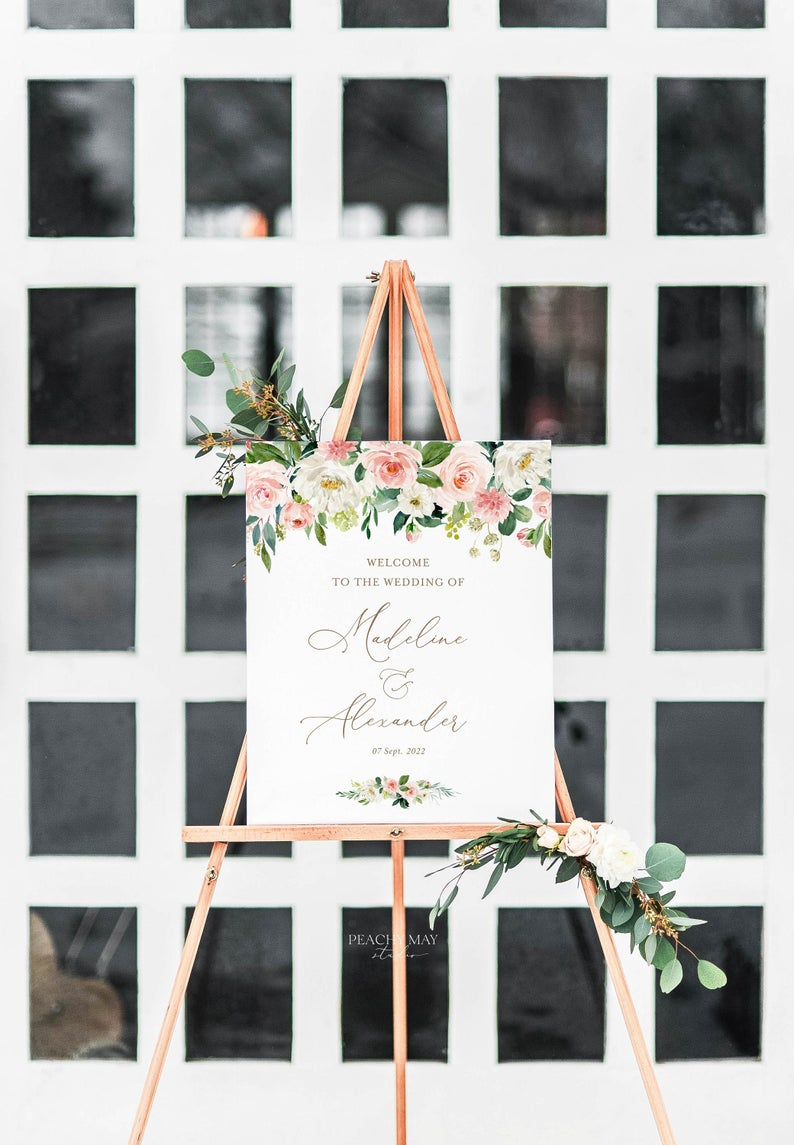 Wedding Welcome Sign Template 013