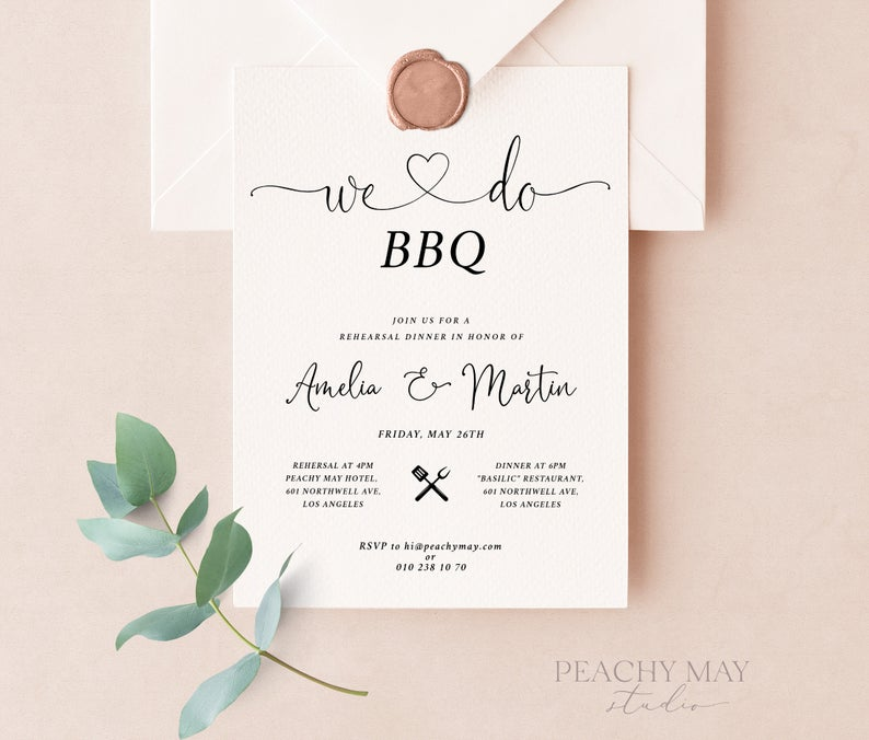We Do BBQ Invitation Template 1