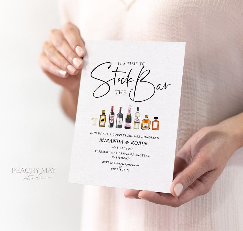 Let's Stock The Bar Invitation Template 3