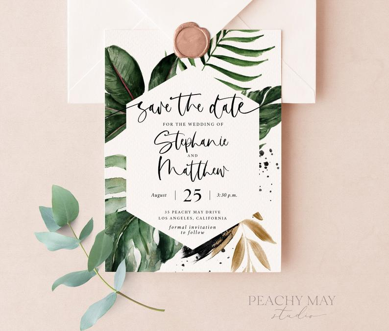 Tropical Save The Date Template 016