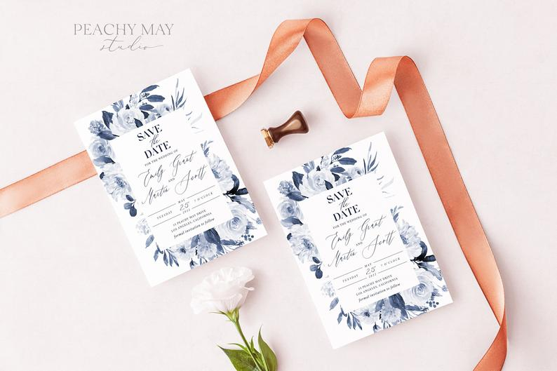 Navy Save The Date Template 032
