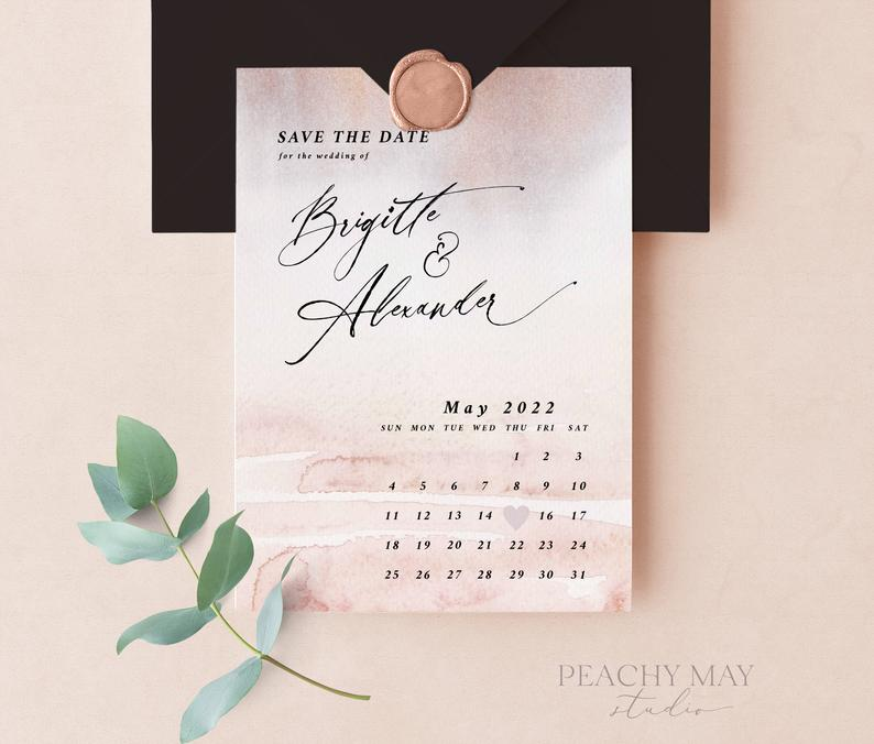 Blush Calendar Save the Date Template 040