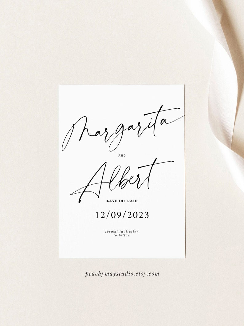 Modern Minimalist Save The Date Template 050