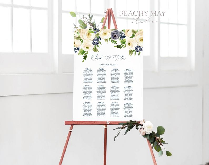 Wedding Seating Chart Template 026