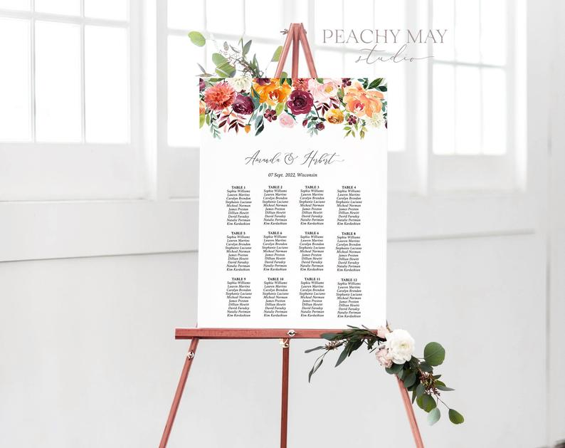 Wedding Seating Chart Template 028