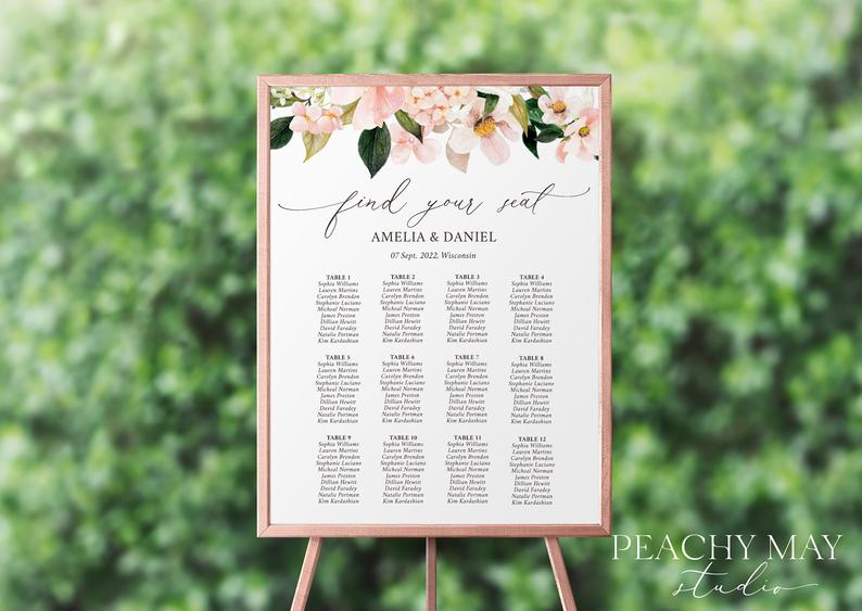 Wedding Seating Chart Template 029