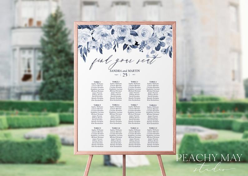 Wedding Seating Chart Template 032