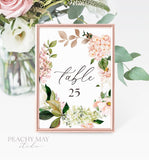 Foliage Printable Table Numbers 029