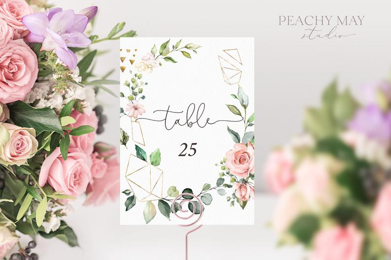 Printable Table Numbers Template 035