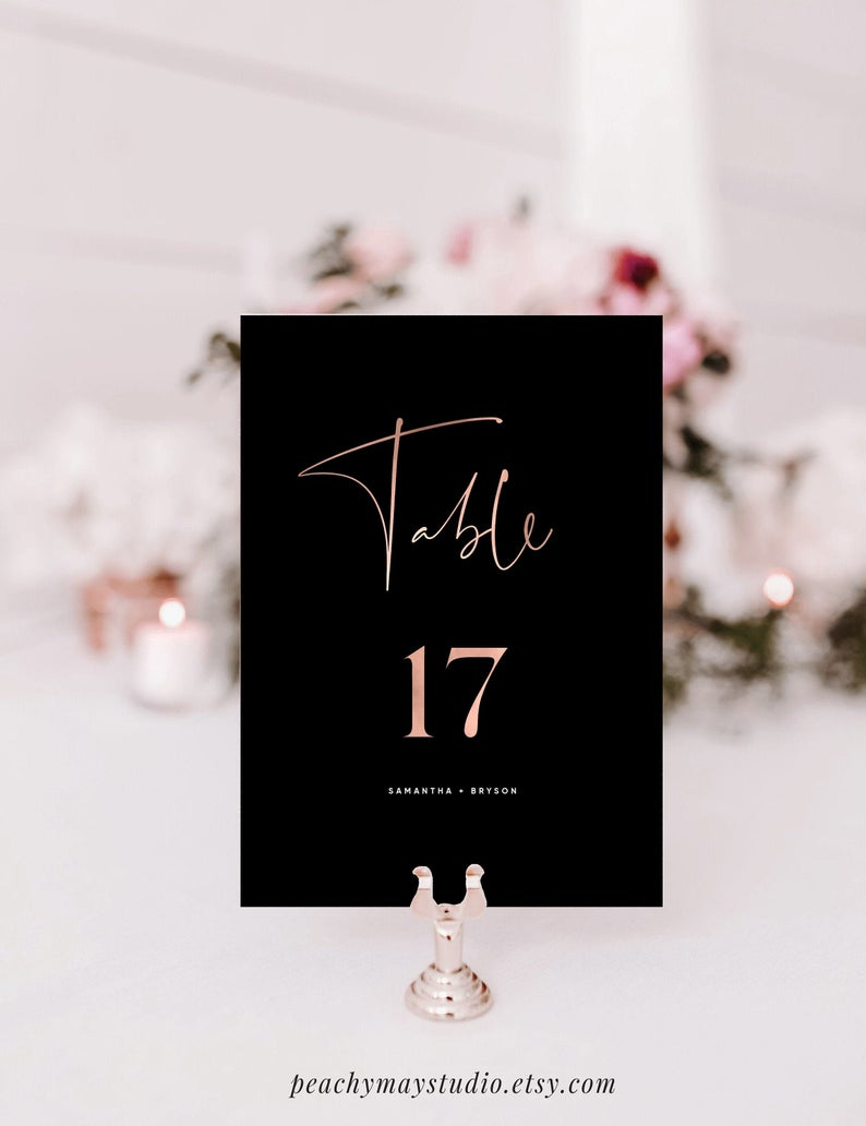 Printable Table Numbers Template 043
