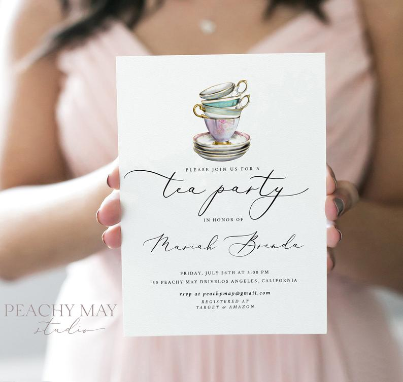 Time for Tea Party Invitation Template