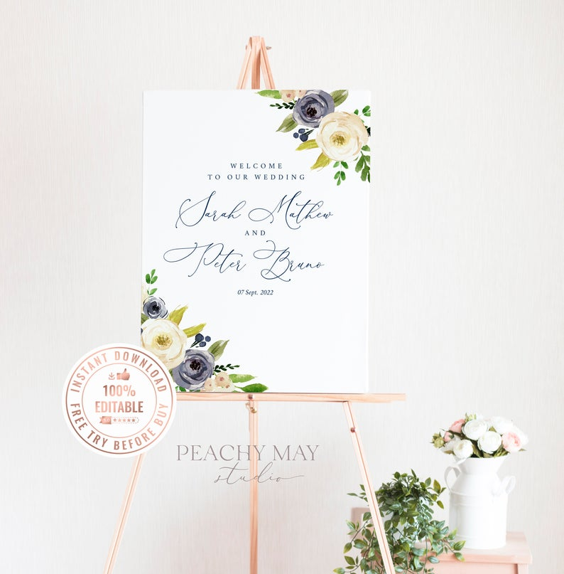 Wedding Welcome Sign Template 026