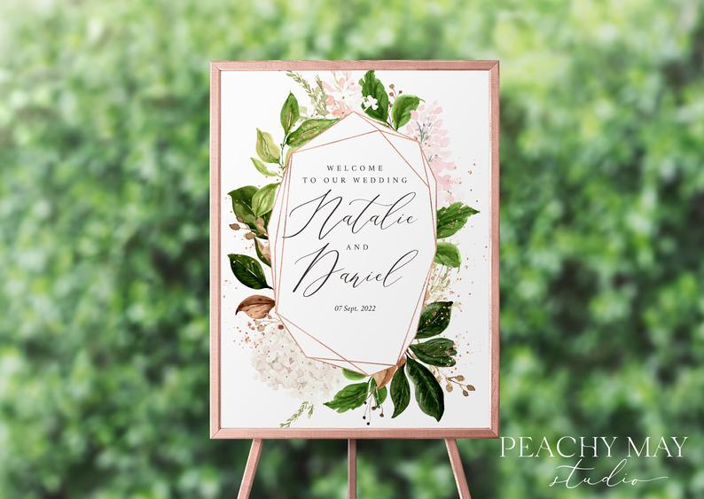 Wedding Welcome Sign Template 027