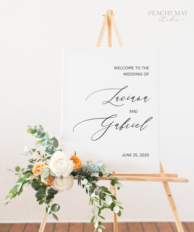 Modern Wedding Welcome Sign Template 046