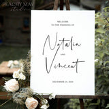 Minimalist Wedding Welcome Sign Template 055