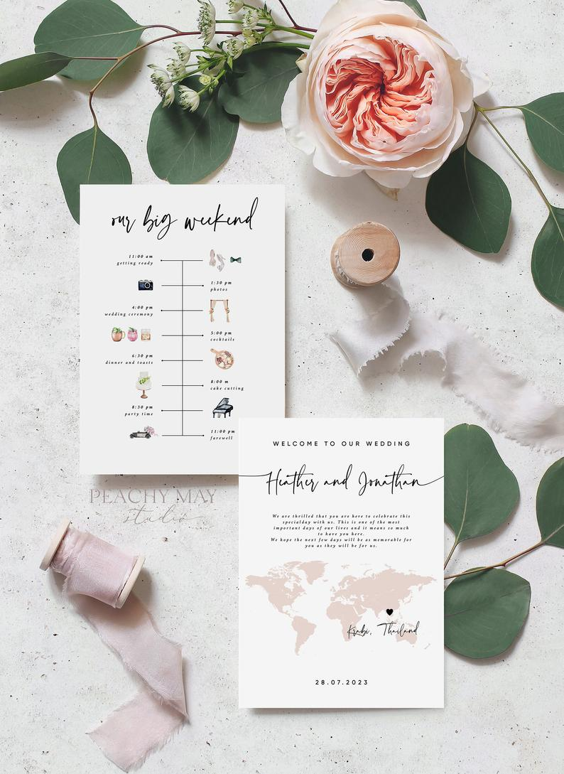 Destination Wedding Timeline Template 056