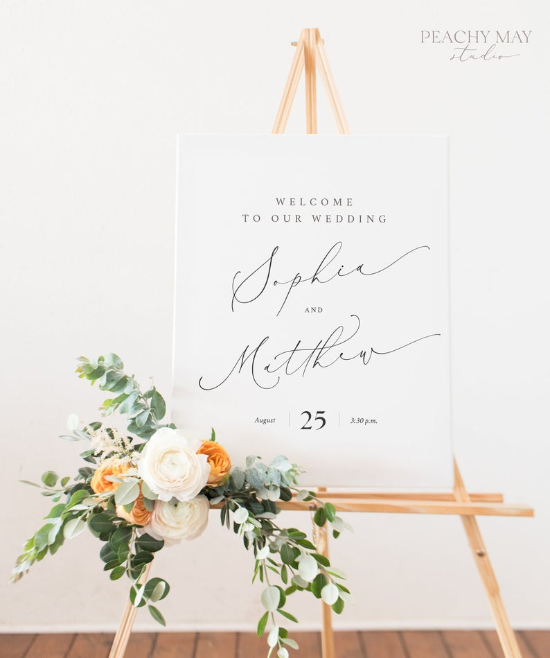 Wedding Welcome Sign Template 030