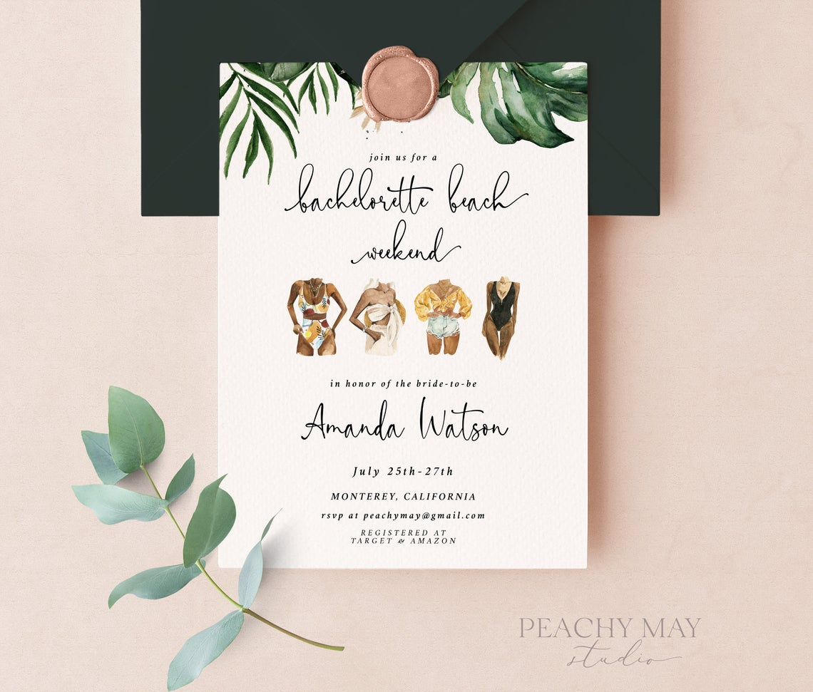 Tropical Bachelorette Party Weekend Invitation 6