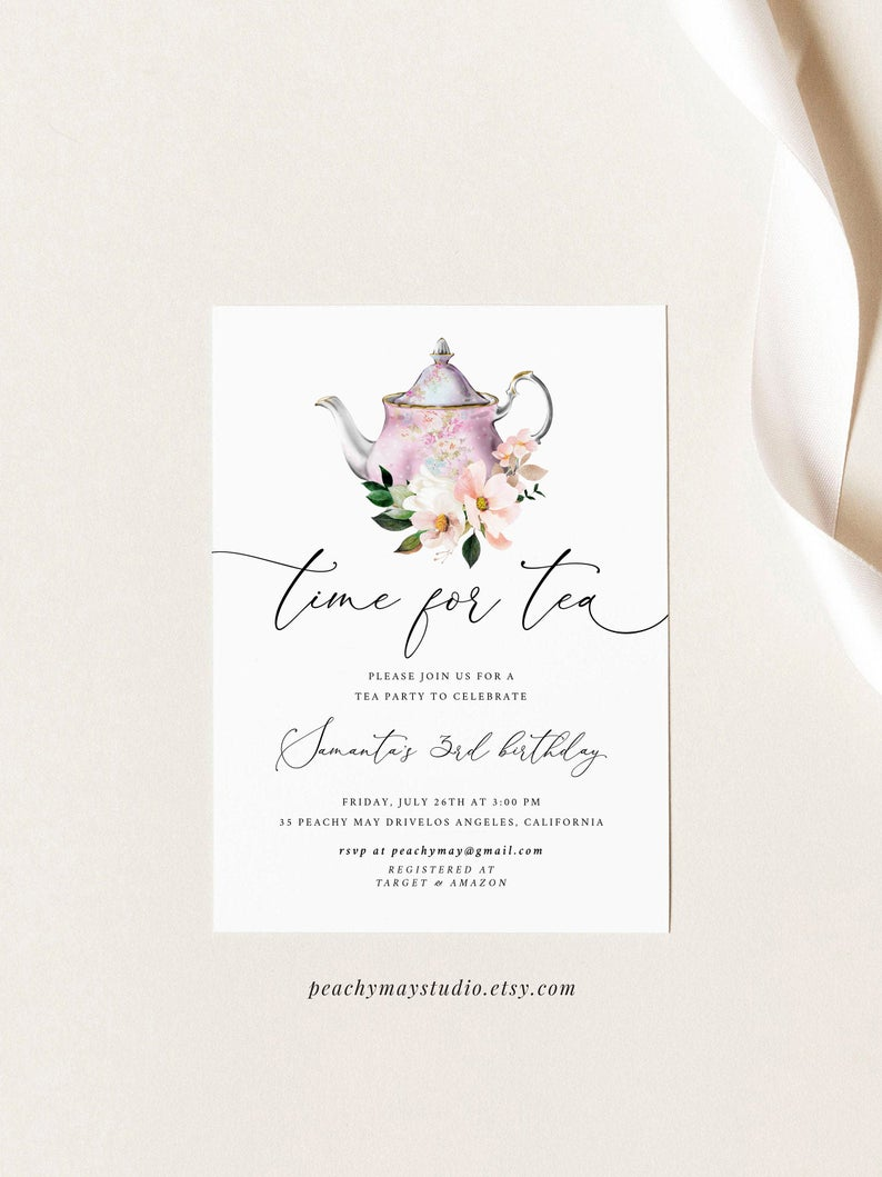 Time for Tea Party Invitation Template 2