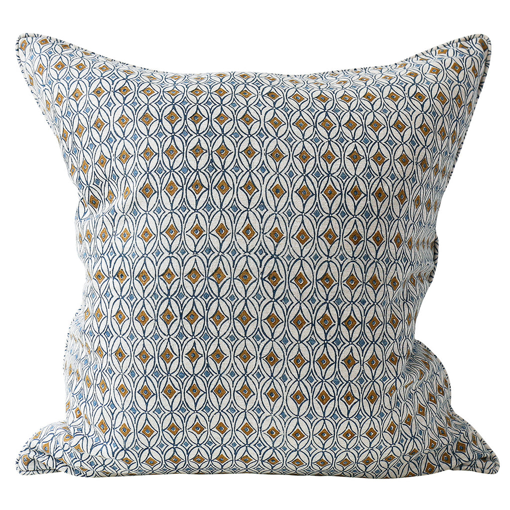 Condesa Tobacco linen cushion