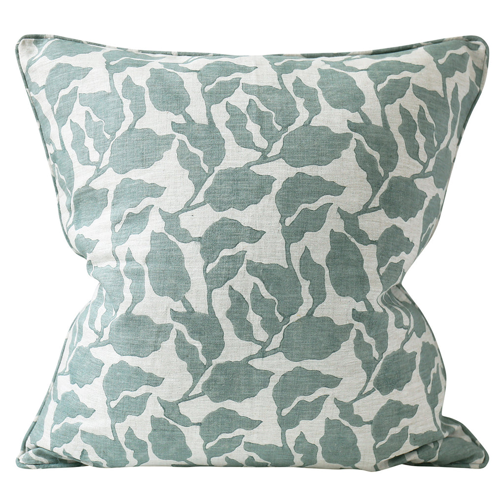 Flores Celadon Cushion
