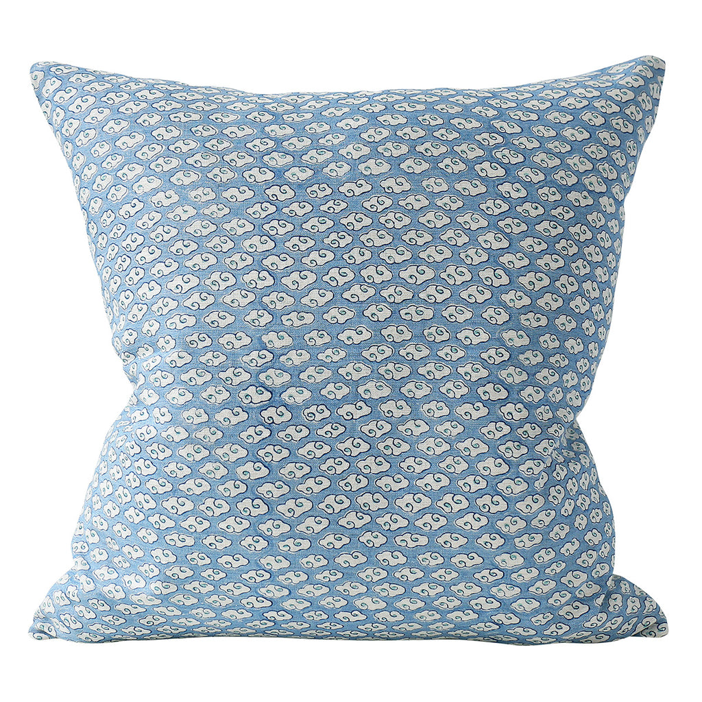 Kumo Azure linen cushion