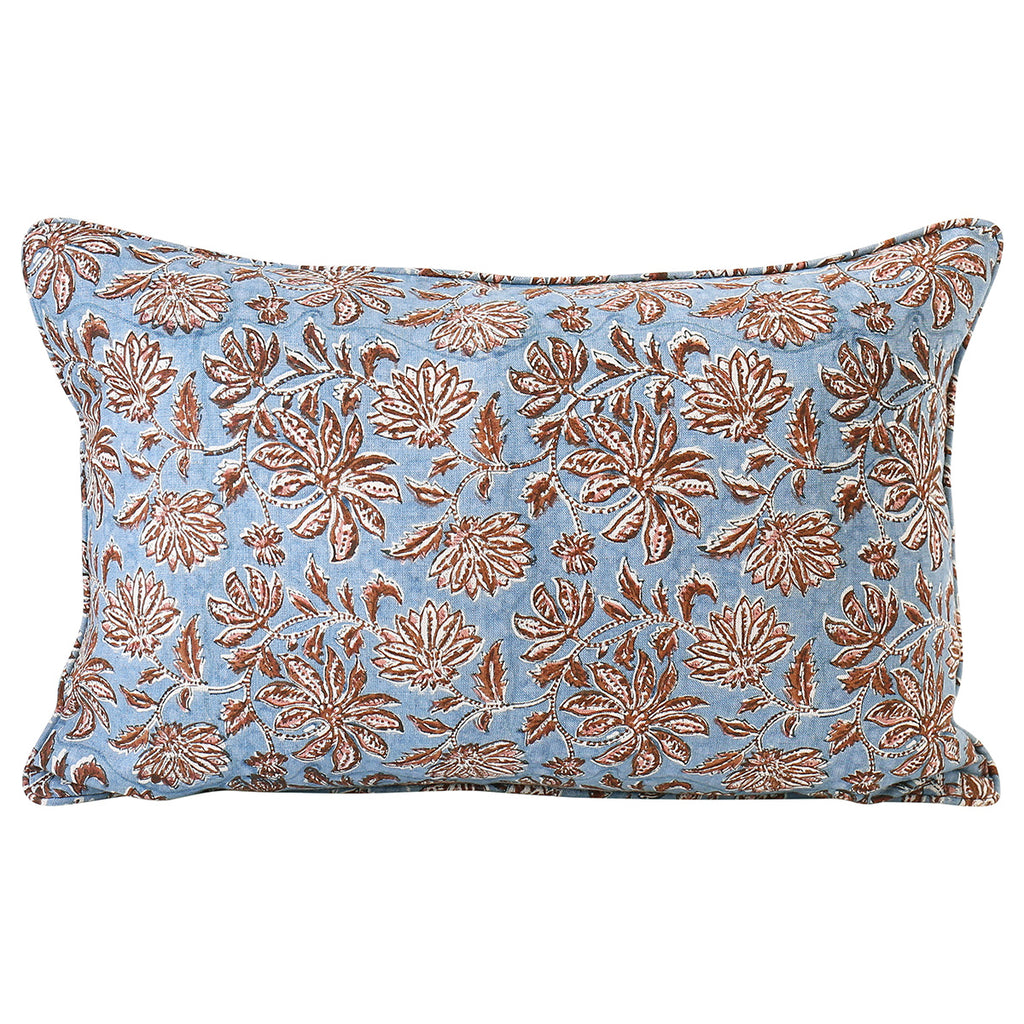 Uluwatu Winter Bloom linen cushion