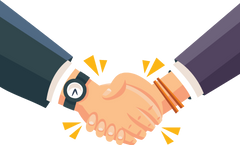 A handshake with client