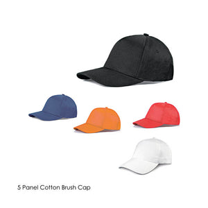 5 Panel Cotton Brush Baseball Cap