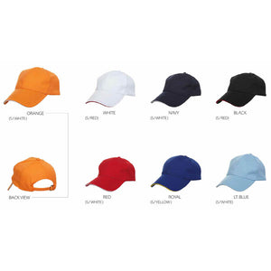 6 Quick Dry Baseball Cap with Under Color