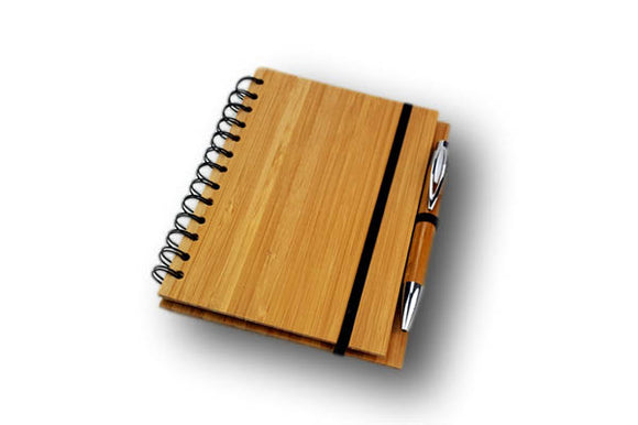 Bamboo Cover Notebook with Bamboo Ball Point