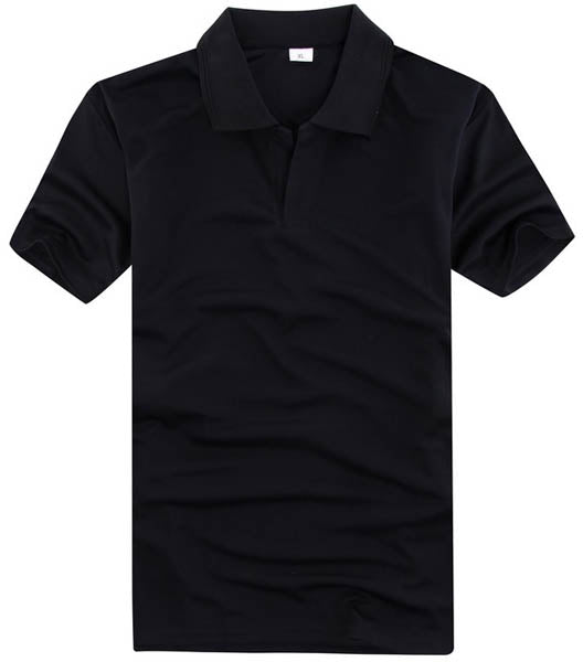 Black 100 Percent Cotton Honeycomb Polo Shirt