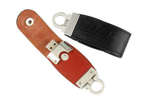 Button Leather Flash Drive