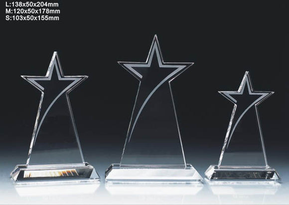 Tall Star Crystal Award