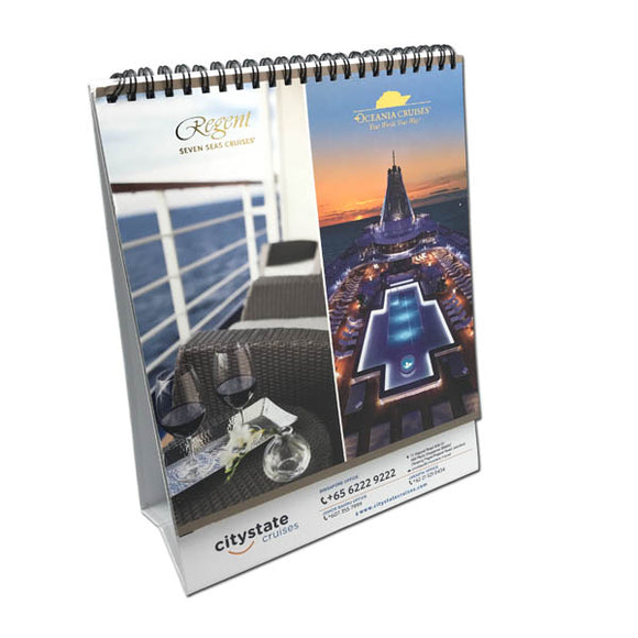 Custom Made Desktop Calendar with Glossy Finish Stand