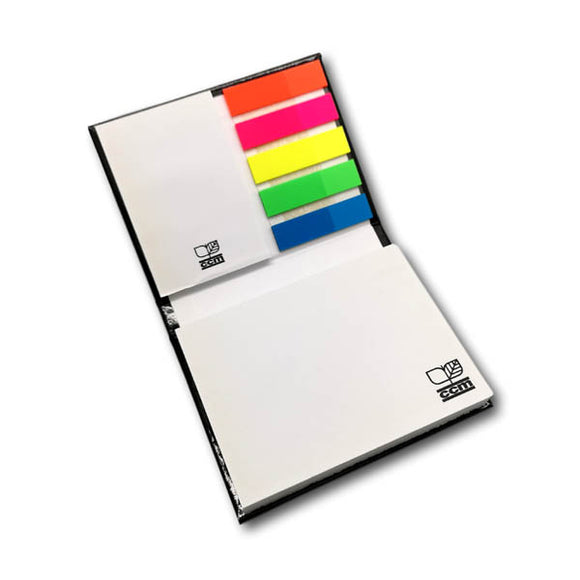 Customised Hard Cover Sticky Pad with Neon Page Markers