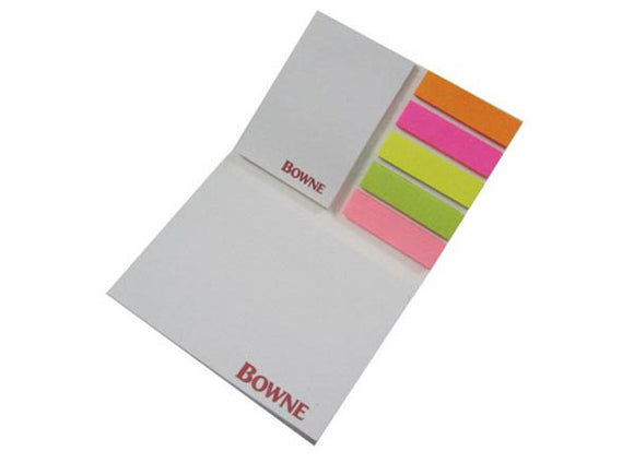 Customized Sticky Note Pad with Page Markers