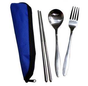 Cutlery Set with Polyester Pouch