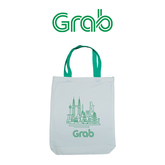 Grab Cotton Canvas Tote Bag