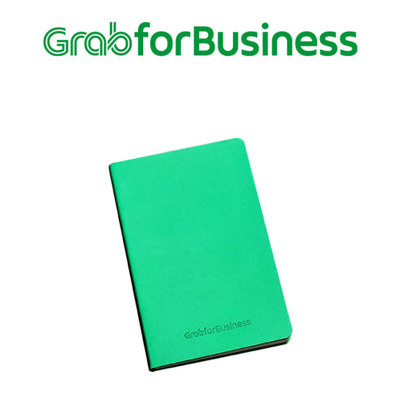 Grab for Business Green Soft PU Leather Notebook