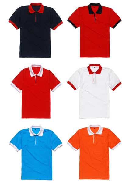 Honeycomb Polo Shirt with Colored Collar and Placket