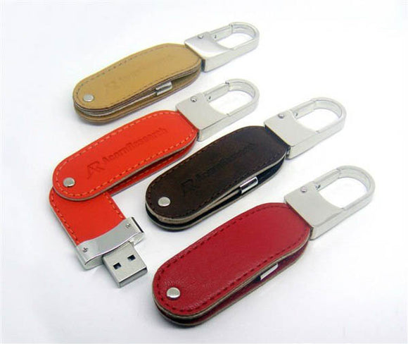 Leather Swivel USB Flash Drive